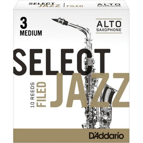 Reed Sax Alto Rico d'addario jazz force 3m medium filed x10