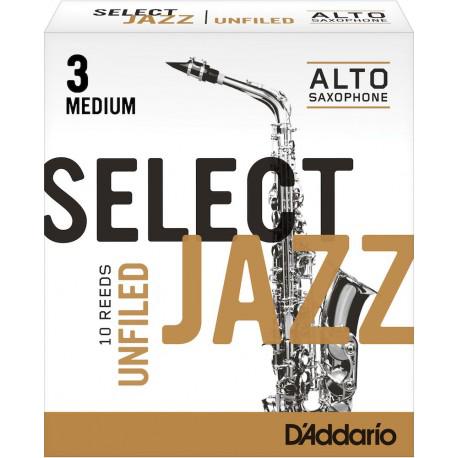 Anche Saxophone Alto Rico d'addario jazz force 3m medium unfiled x10