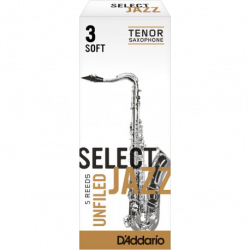 Reed Sax Tenor Rico d'addario jazz force 3s soft unfiled x5