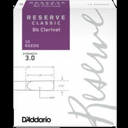 Anche Clarinette Sib Rico d'addario reserve classic, force 3 x10