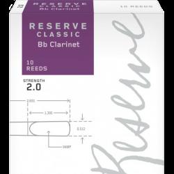 Anche Clarinette Sib Rico d'addario reserve classic force 2 x10