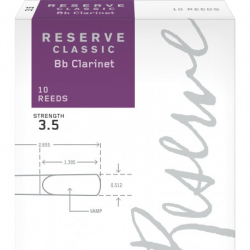 Anche Clarinette Sib Rico by D'Addario Reserve Classic force 3.5 x10