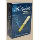 Caña Saxo Alto Rigotti oro clásico de la fuerza de 2.5 x10