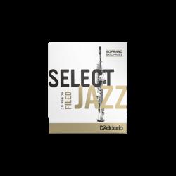 Reed Sax Soprano Rico d'addario jazz strength 2m medium unfiled x10