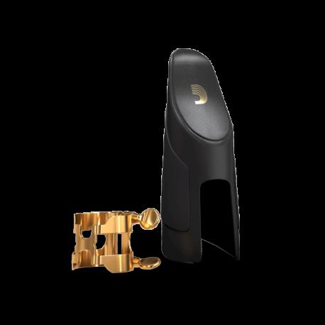 H-ligature rico d'addario gold-plated saxophone, tenor bec metal