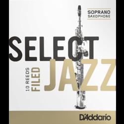 Reed Sax Soprano Rico d'addario jazz force 4h hard filed x10