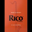 Caña Clarinete Bajo Rico naranja fuerza 3 x10