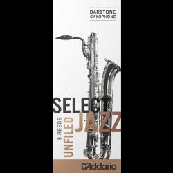 Caña Saxo Barítono Rico d'addario de jazz de la fuerza de 4h duro sin archivar x5