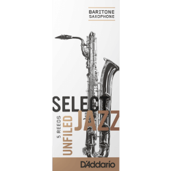 Caña Saxo Barítono Rico d'addario de jazz de la fuerza 2s suave sin archivar x5