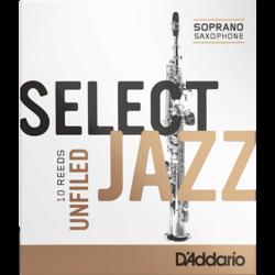 ドリコD'addarioジャズ-ソプラノサックスの強度4Sソフトunfiled-Boîte de10