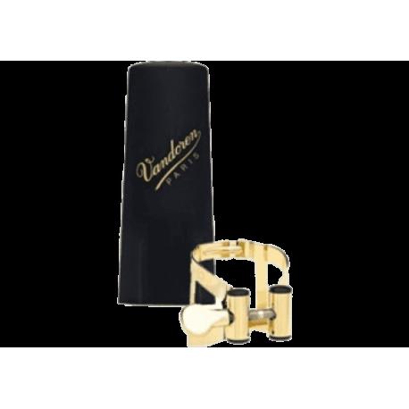 La ligadura m/s maestro / vandoren optimum gold-plated saxofón tenor