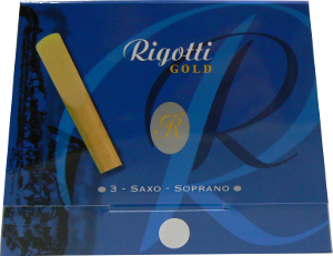 3 anches Rigotti Gold sax soprano force 4