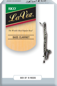 10 Anches Clarinette Basse LaVoz Rico Soft / Faible