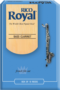 10 anches Rico Royal Clarinette basse force 2.5