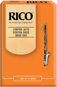 10 anches Rico Orange Saxophone Basse force 3