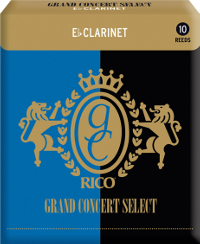 10 Anches Clarinette Mib / Eb Grand Concert Select force 4.5 Rico