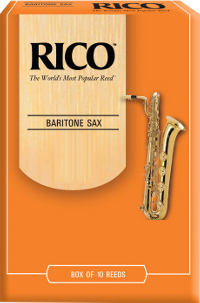 10 anches Rico Orange Saxophone baryton force 1.5