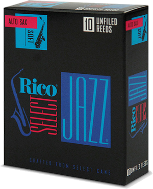 Anche Rico Jazz Saxophone Alto force 4H hard 4H unfiled - Bo�te de 10