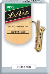 10 Anches saxophones Baryton LaVoz Rico Soft / Faible