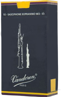 10 Anches saxophone Sopranino Vandoren Traditionnelle force 2