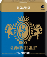 Bo�te de 10 anches Rico Grand Concert Select Clarinette Sib/Bb force 4