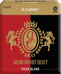 10 anches Rico Grand Concert Select Clarinette Sib/Bb Thick Blank force 4,5