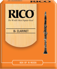 10 anches Rico Orange Clarinette Sib / Bb force 2.5