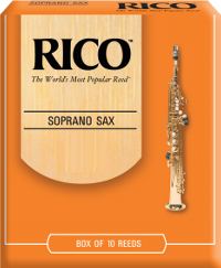 10 anches Rico Orange Saxophone soprano force 3